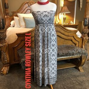 Cynthia Rowley NWT! Strapless Maxi Dress Size L